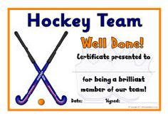 field hockey template field hockey certificate template choice image