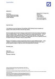 deutsche bank pride letter of support games london