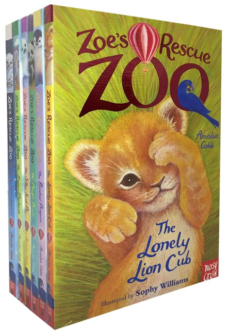 zoo rescue books zoe s rescue zoo collection amelia cobb 6 books set the