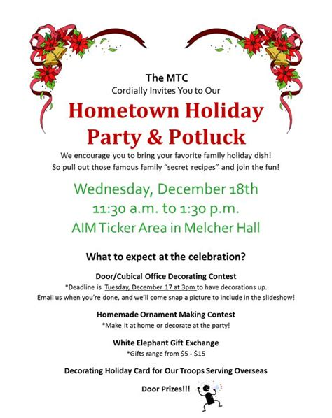 christmas potluck email invitation office potluck invitation hometown potluck invitation thanksgiving