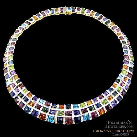 bellarri jewelry multi color gemstone necklace