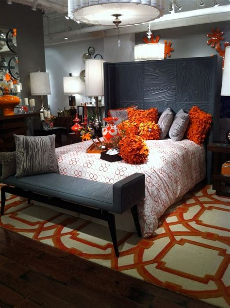 Grey And Orange Bedroom Decor by 25 Best Ideas About Grey Orange Bedroom On