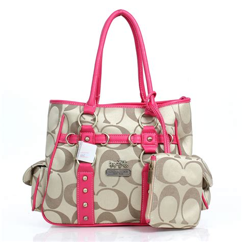 couch outlet online coach stud in signature medium pink totes dzd cc1691