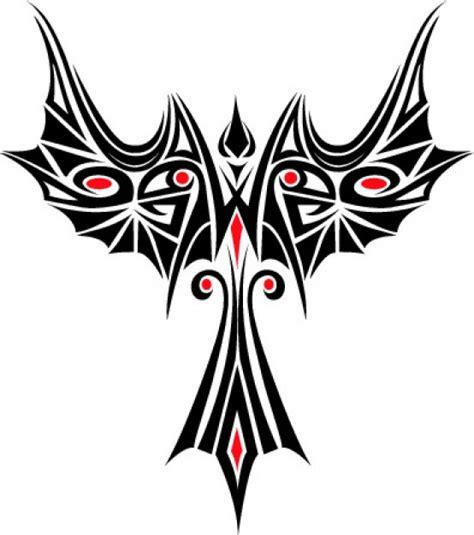 phoenix tatoo vorlage symbol vektor download der