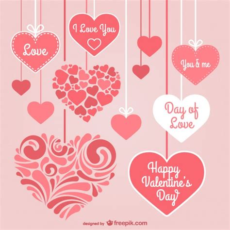 valentine s valentine s day stationery hearts vector free download