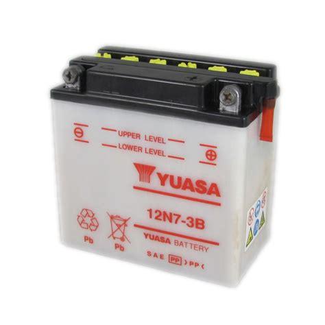 Motorrad Batterie 12v 7ah by Yuasa Motorcycle Battery 12n7 3b 12v 7ah From County