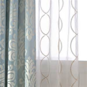 Patterned Sheer Curtains White Patterned Curtains Homesfeed