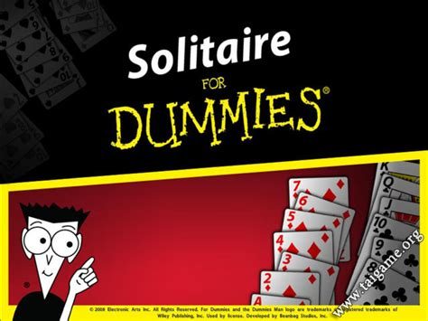 card for dummies solitaire for dummies free card