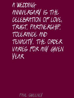 Wedding Anniversary Celebration Quote by Quotes About And Partnership Quotesgram