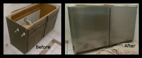 Covering Cabinet Doors Covering Cabinets With Stainless Steel Peel And Stick Paper