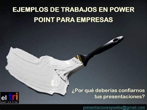 presentaciones power point modelos trabajos para empresas