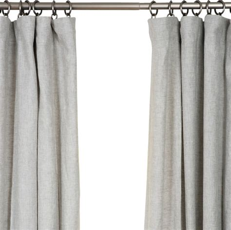Belgian Linen Curtains Belgian Flax Linen Drapery Mist Gray 50 Quot X 84 Quot Farmhouse Curtains By Barn Willow