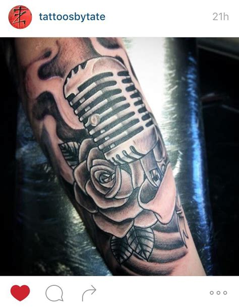 tattoo microphone vintage 57 best microphone tattoo images on pinterest
