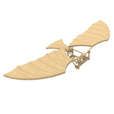 3d Houses For Sale da vinci s ornithopter aircraft makecnc com