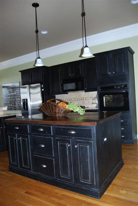 black kitchen cabinet paint black distressed kitchen cabinets our new house pinterest