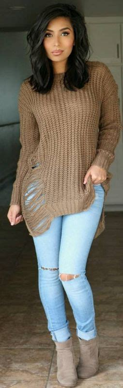 Sweater Pria Model New Casual Green Army Brown Shoulder Patch 447 sweaters and boots