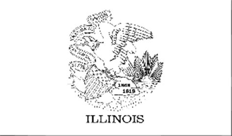 California State Insect Coloring Page Coloring Pages Illinois State Flag Coloring Page