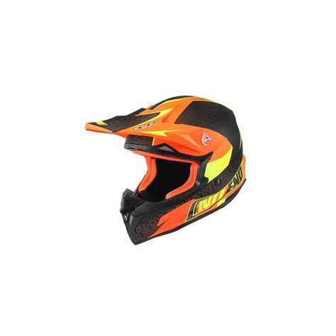 Helm Kyt Cross Verboden Black Orange cross helmet noend defcon orange black mat motorkit
