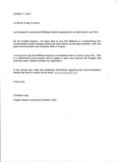 Parent Letter Of Concern Recommendation Letter