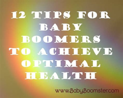 the of optimal health how to achieve a lifetime of radiant vitality books 12 tips for baby boomers to achieve optimal health