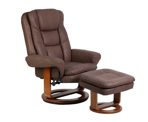 euro chair with ottoman mac motion euro recliner and ottoman in chocolate nubuck