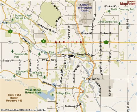calgary on a map of canada map of calgary