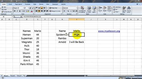 vlookup tutorial video in hindi remove the n a error from vlookup formula in excel hindi
