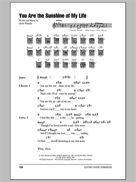strumming pattern for you are my sunshine ukulele you are the sunshine of my life sheet music by stevie