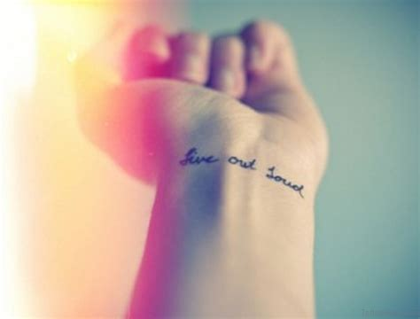 live wrist tattoo 50 charming wording tattoos for wrist