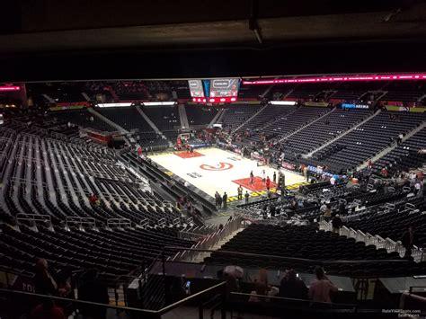 arena section philips arena section 222 atlanta hawks rateyourseats com