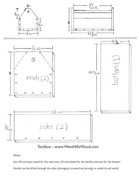 woodwork toolbox plans woodworking pdf plans