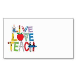 substitute teacher business cards three little birds designs
