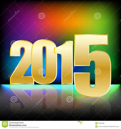 new year colors and gold happy new year 2015 with gold numbers and bright rainbow