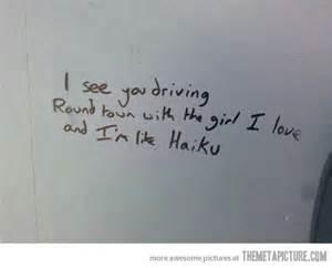 Bathroom Stall Graffiti Haiku The Bewildered 20 Something Writer