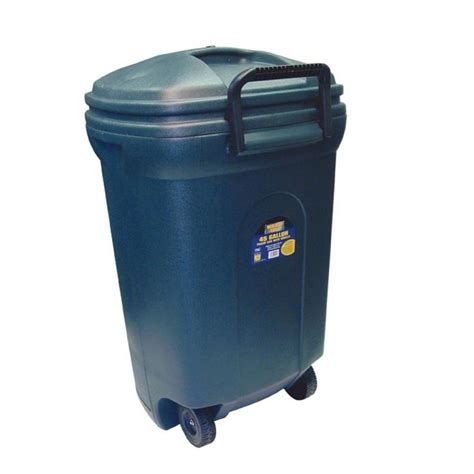 shop blue hawk 45 gallon black plastic outdoor wheeled