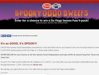 the six flags spooky good sweepstakes sweepstakes fanatics - Good Sweepstakes