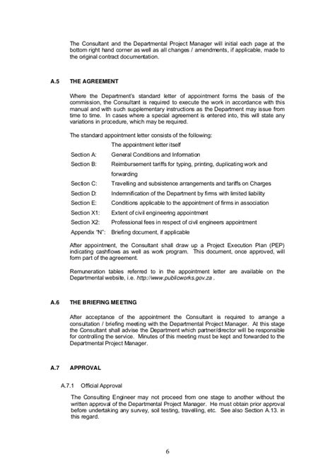 appointment letter civil engineer civil engineering manual