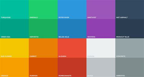 colors that start with f the evolution of flat design muted colors design shack
