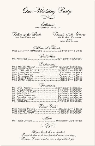 engagement photograpy wedding program monogram wedding programs wedding ceremony programs
