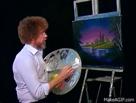 bob ross painting gif bob ross blue river the of painting season 6