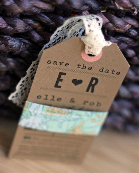 Handmade Save The Date - 25 diy save the dates to start the festivities