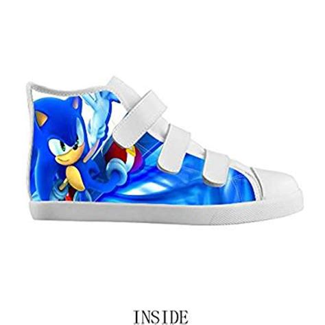 sonic the hedgehog shoes for velcro high top kid s canvas shoes sonic the