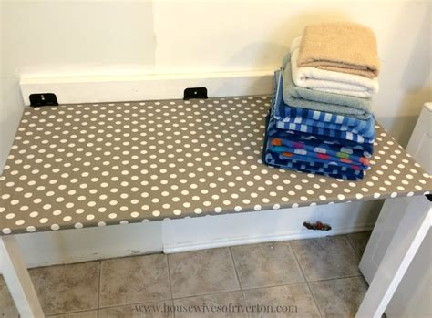 diy fold down table diy drop down laundry table housewives of riverton