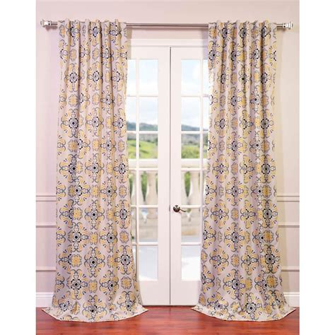 Yellow Gray Curtains Exclusive Fabrics Furnishings Soliel Yellow Grey Blackout Curtain 50 In W X 120 In L Pair