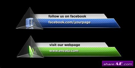 free flat lower third template for sony vegas pro social media lower third pack 3 projects for after