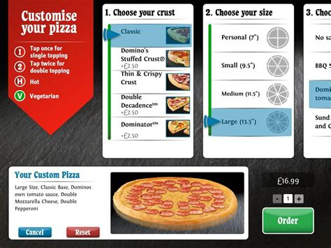 domino pizza app dominos pizza ipad app matt hopkins