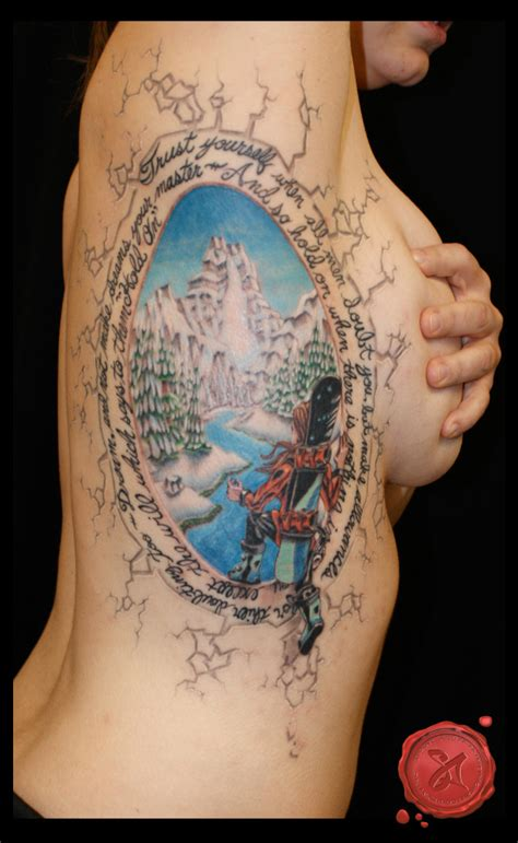 winter tattoo list of best snowboard ski surf skateboard tattoos 2014