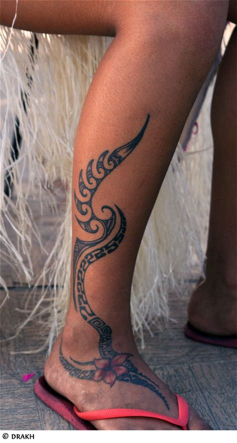 tribal tattoo on leg tribal gallery