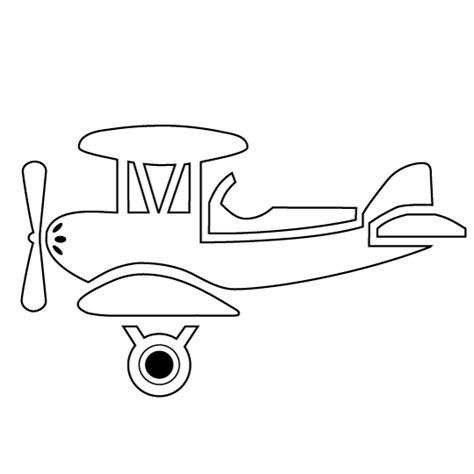 coloring page airplane outline antagonist placeholder