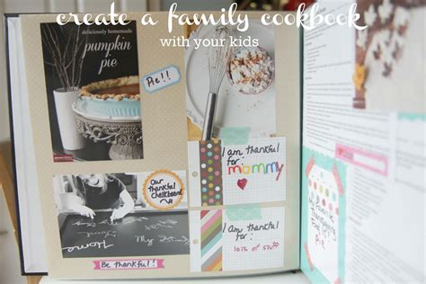 Handmade Cookbook - how to create a family cookbook with your momadvice